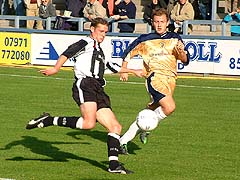 Shaun Wilkinson races in on the wing